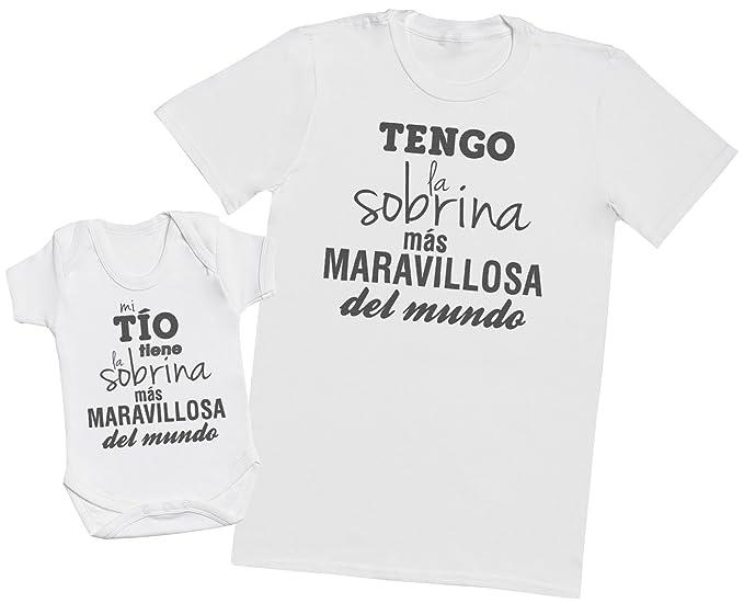 c2712b02304 Zarlivia Clothing Mi Tío Tiene la Sobrina - Regalo para Padres y bebés en  un Cuerpo para bebés y una Camiseta de Hombre a Juego: Amazon.es: Ropa y ...