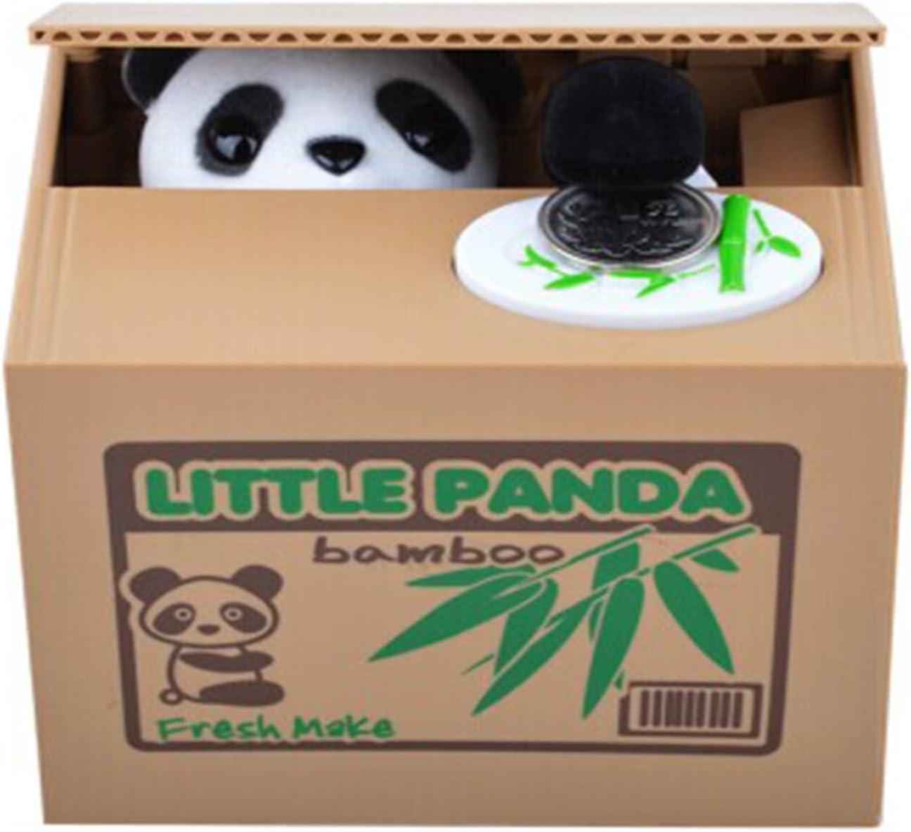 【UNTIL YOU】Juguete Robar Dinero Hucha con Sonido Gato Coger Moneda del Tablero Divertido Juguete de los Niños Regalo Original y Fantástico Divertido Infantil Electronica Coger Dinero ( Panda )