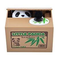 【UNTIL YOU】 Boîte Tirelire économiser argent piece monnaie Design cute animal volent l'argent sauver Cents Coins Cadeau pour les Enfants Présent ( Panda )