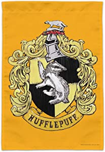 GRAPHICS & MORE Harry Potter Hufflepuff Painted Crest Garden Yard Flag