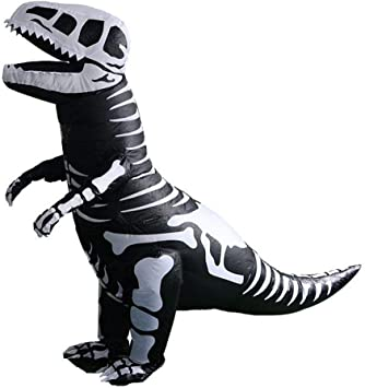 Amazon.com: Simplylin - Disfraz de esqueleto de dinosaurio ...