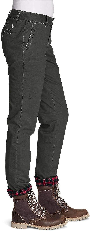 Boyfriend Eddie Bauer Womens Stretch Legend Wash Flannel-Lined Pants