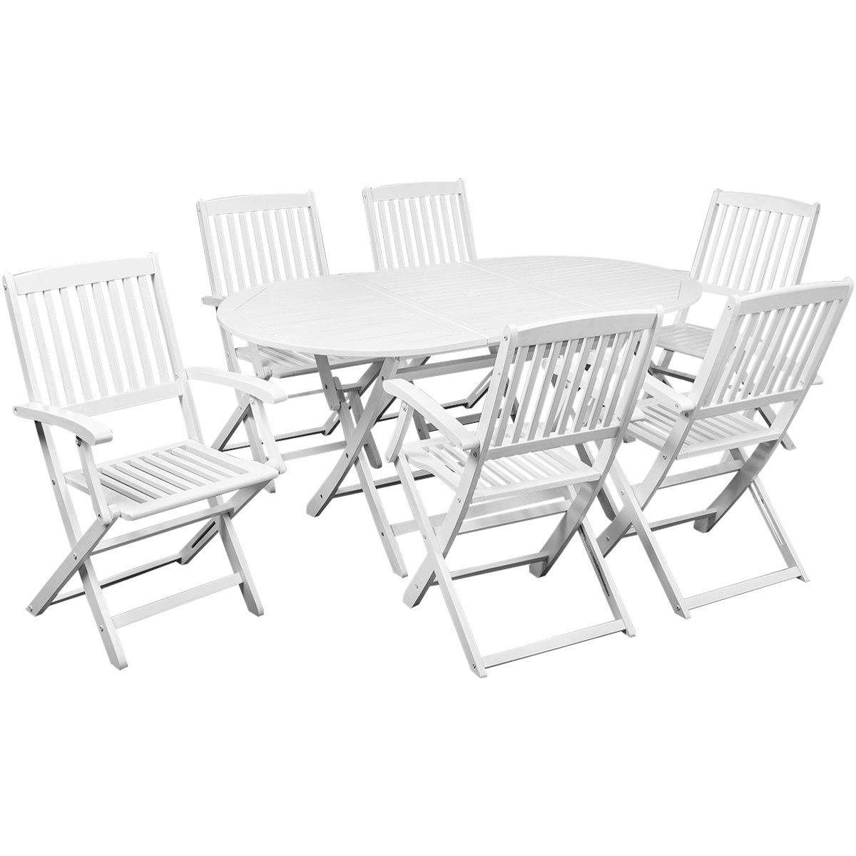 vidaXL Holz Sitzgruppe Sitzgarnitur Gartenmöbel Set Klapptisch ...