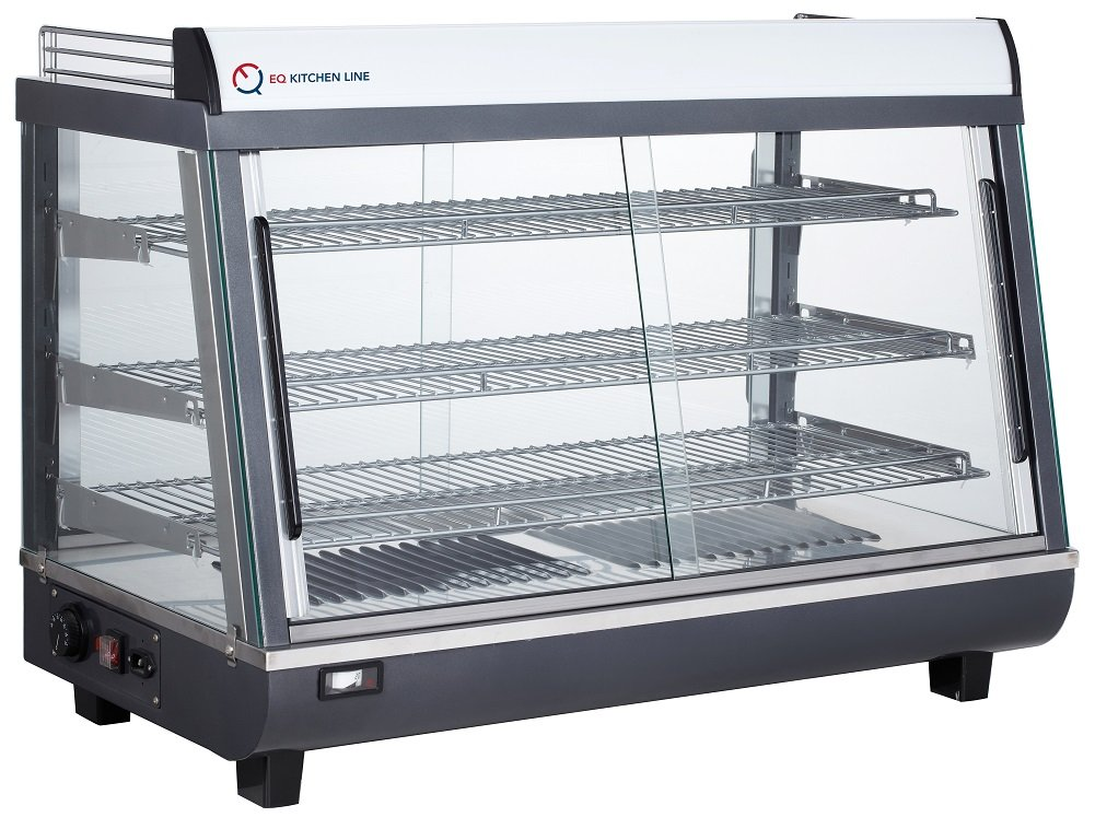 EQ Kitchen Line Countertop Hot Display Food Cabinet, Glass