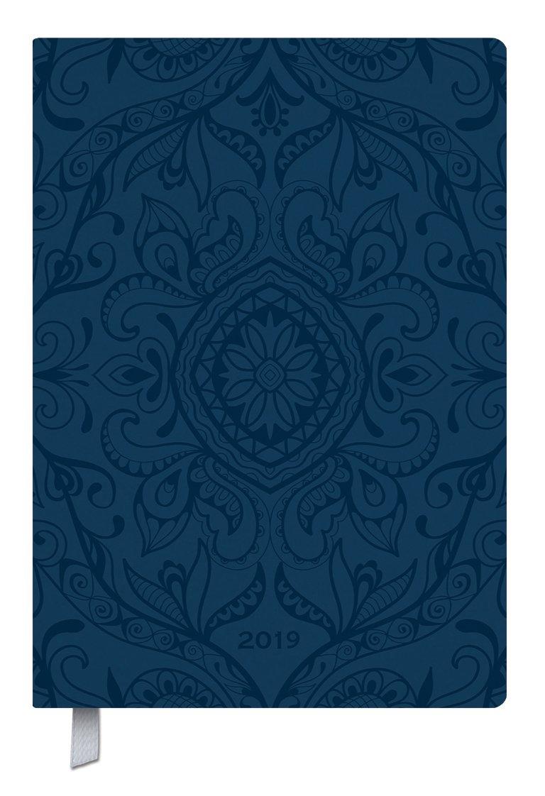 Timer Soft Touch 18 dunkelblau 2019: Terminplaner groß in Lederoptik. DIN A5 Terminkalender mit Wochenübersicht, Platz für Notizen und Lesezeichenband. 1 Woche 2 Seiten - 18 Monate