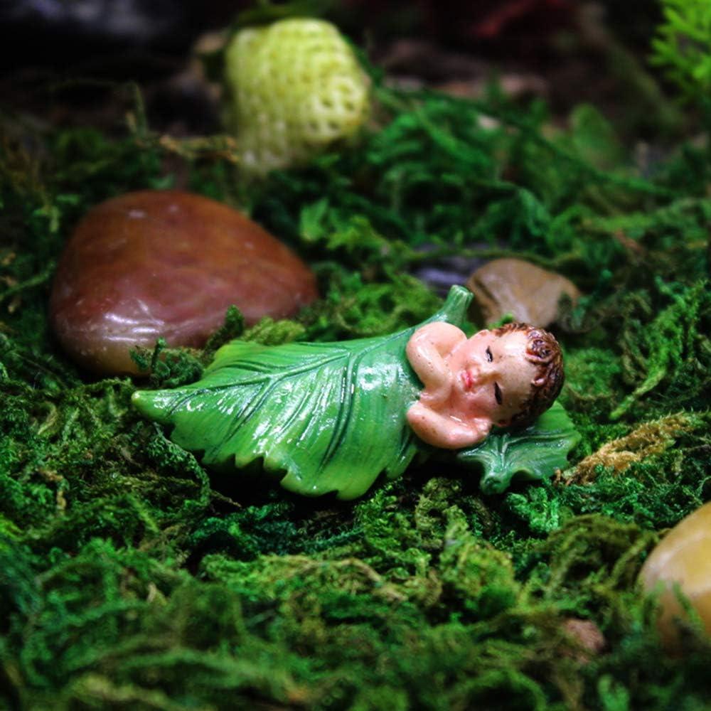 "Danmu 4Pcs of Polyresin Mini Size Sleeping Fairy Miniature Figurines, Fairy Garden Accessories, Fairy Garden Supplies, Fairy Garden Animals for Fairy Garden, Bonsai Craft Decor 1 4/5"" x 9/10"" x 1/2"""