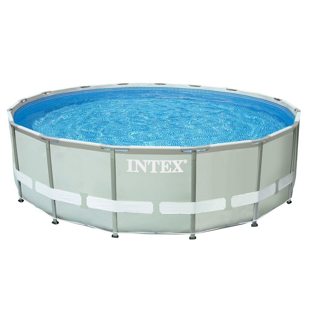 Intex 28322NP UltraFrame Pool Komplett-Set, Wasser: Amazon.de ...