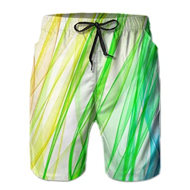 65fb9bb2d6 PPANFKEI Rainbow colorful Mens Fashion Board Shorts Loose Fit With Liner  Beach Jogger Shorts | Amazon.com