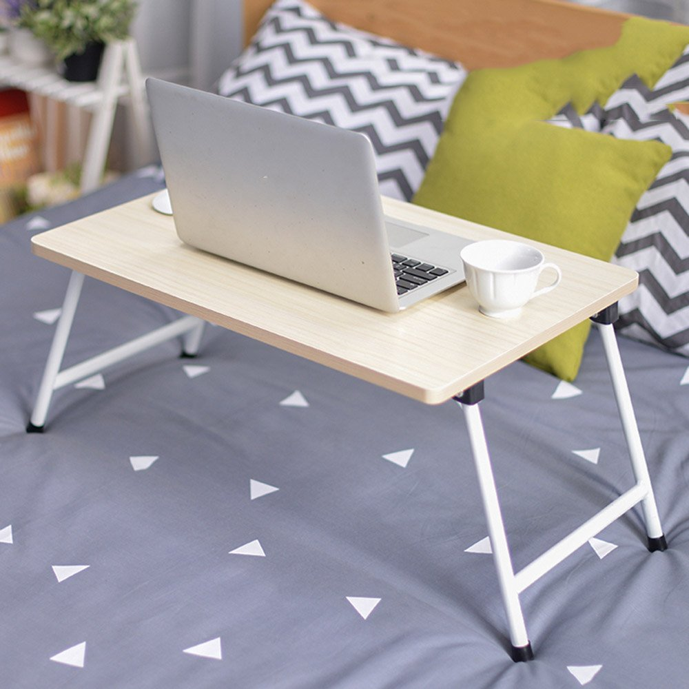 B ZZ Folding Table Folding Table Laptop Table Bed with Folding Study Table 8 colors Optional 60  40cm (color   G)