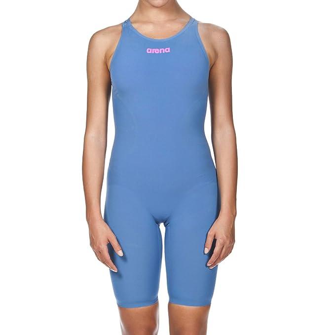 7720f5275 Maiô de Natação Feminino R-EVO ONE Powerskin Short Leg Aberto Arena - Azul  - 32  Amazon.com.br  Esportes e Aventura