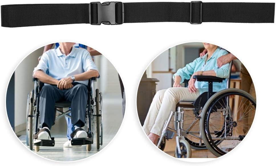 Ceinture de s/écurit/é r/églable pour fauteuil roulant Ajustement universel pour la plupart des fauteuils roulants chaises hautes et poussettes poussettes