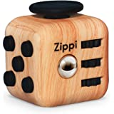 Best Fidget Cube By Zippi. Prime Desk Toy. Reduce Anxiety And Stress Relief For Autism, ADD, ADHD & OCD. (Wood Color)