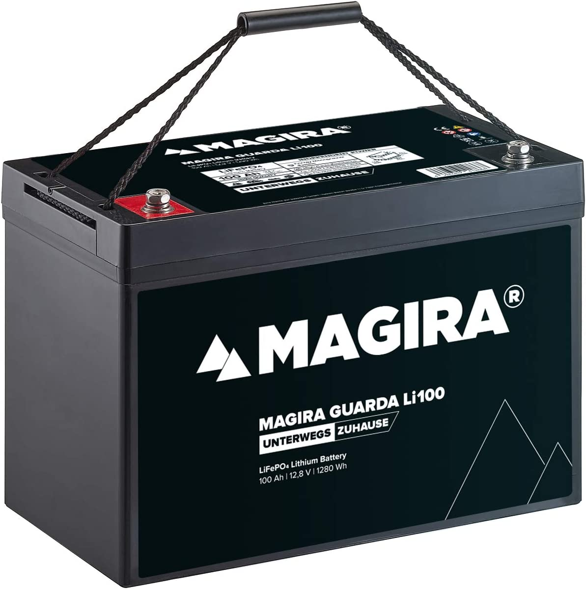 Magira 12v 100ah Lifepo4 Lithium Eisenphosphat Versorgungsbatterie Guarda Li100 Auto