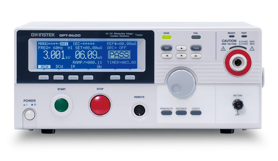 GW Instek GPT-9602 Withstanding Voltage Tester, 100VA AC/DC Test Capacity