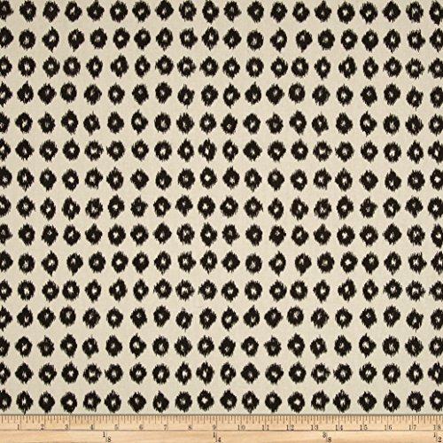 Golding Fabrics P Ikat Spots Fabric, Charcoal