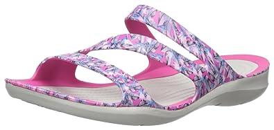 40d2a07ffb65 crocs Women s Swiftwater Graphic W Flat Sandal