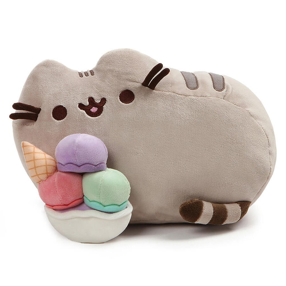 GUND Pusheen Snackables Sundae Cat Plush Stuffed Animal, Gray, 12'' by GUND
