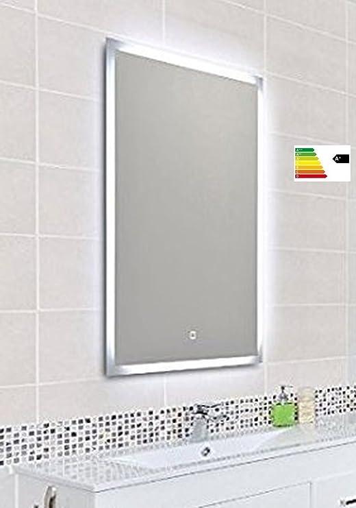 KROLLMANN Badspiegel mit LED Beleuchtung, Badezimmer Wandspiegel mit ...