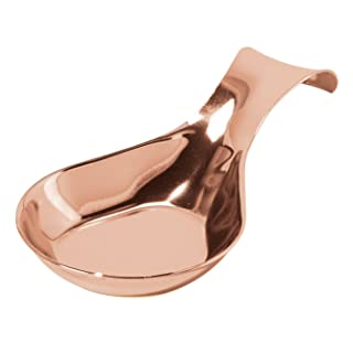 Oggi Copper Plated Stainless Steel 8.25 x 4.5 Inch Spoon Rest,Gold