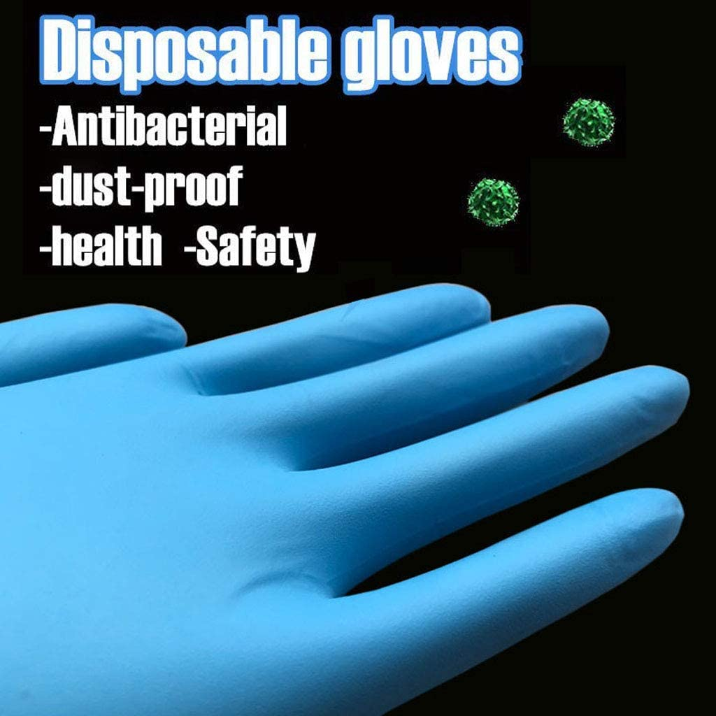 50 Pairs Comfortable Disposable Mechanic Nitrile Gloves Exam Gloves Protective Gloves S