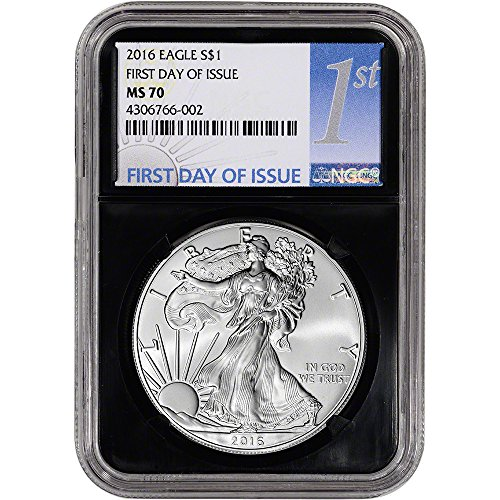 2016 American Silver Eagle (1 oz) First Day of Issue 1st Label Retro $1 MS70 NGC