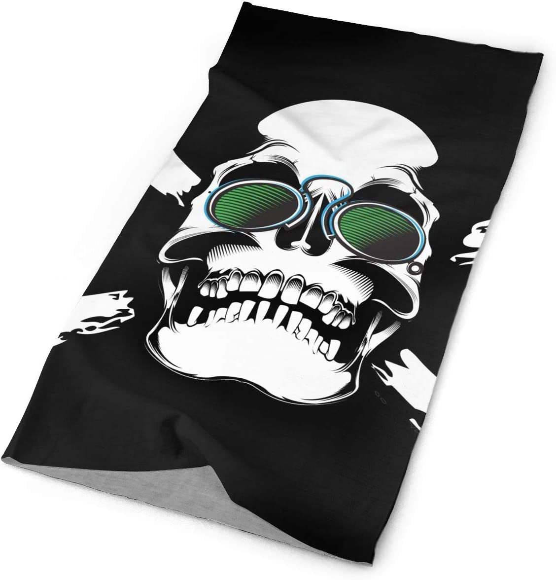 Skull Sunglasses Funny Unisex Fashion Quick-Drying Microfiber Headdress Outdoor Magic Scarf Neck Neck Scarf Hooded Scarf Super Soft Handle