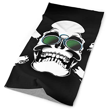 Pirate Fun Unisex Fashion Quick-Drying Microfiber Headdress Outdoor Magic Scarf Neck Neck Scarf Hooded Scarf Super Soft Handle