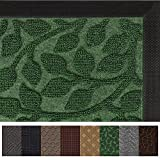 #6: Gorilla Grip Original Durable Rubber Door Mat, Heavy Duty Doormat, Indoor Outdoor, Waterproof, Easy Clean, Low-Profile Rug Mats for Entry, Garage, Patio, High Traffic Areas (29 x 17, Green: Leaves)