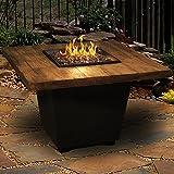 Cosmopolitan 36-inch French Barrel Oak Propane Gas Square Fire Table By American Fyre Designs - Black Lava
