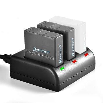 - Nuevo batería GoPro Doble Cargador de batería para HERO 5, de 6, 7 y Hero 2018
