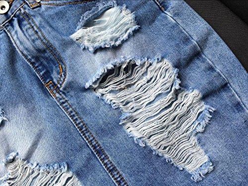 Gasa atractiva y elegante impresión faldas divididas irregulares White