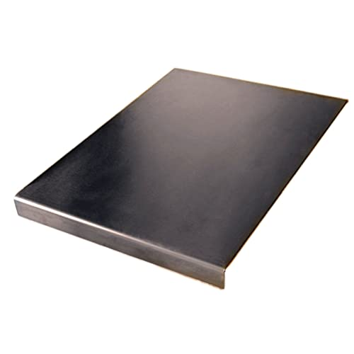 Plan de travail en acier inoxydable Planche à découper carrée bord, à plat ou rond Voir tous les Prix des Variation Tailles + (inclus) pieds en caoutchouc antidérapant, Acier inoxydable, argent, 500 x 500 square fold