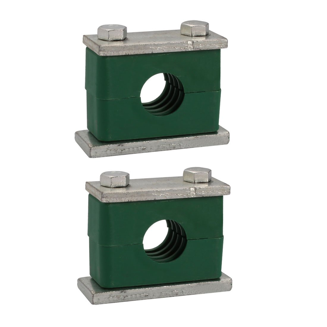 uxcell 25mm Fitting Dia Polypropylene Aluminum Heavy Series Hose Pipe Tube Clamp 2pcs