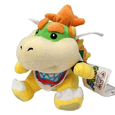 Altay Best Super Mario Yellow Bowser King Koopa Jumbo Size Stuffed Plush Toy with Travel Bag: Toys & Games
