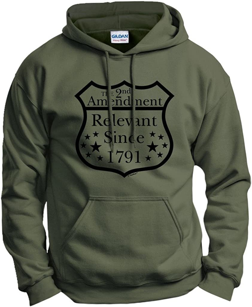 ThisWear Gun Lover Gift 2nd Amendment Relevant Since 1791 Hoodie Sweatshirt 2XL MlGrn Military Green