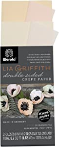 Lia Griffith Double Sided Crepe Paper Folds Roll, 6.7-Square Feet, Blush and Chiffon, Petal and Peach