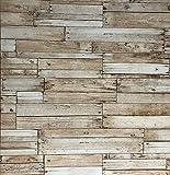 Slavyanski wallcoverings Vinyl Wallpaper Brown Old Vintage Retro Faux Rust Rustic Realistic barn Distressed Wood Boards Textured Pattern Double Rolls Wall coverings Wallpapers Textures Modern roll 3D
