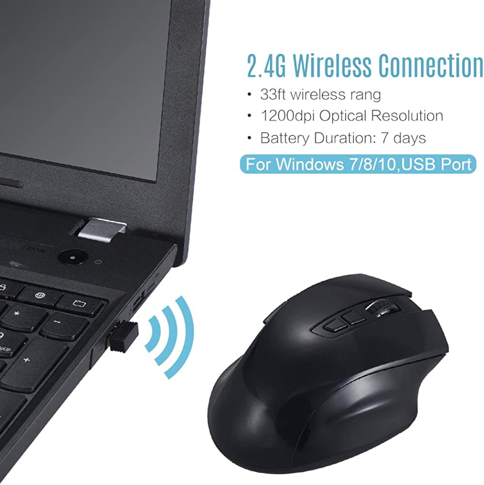 2019 Upgrade M3M Intelligent Voice Mouse,2.4Ghz WiFi Computer Game Mouse Voice Typing//Voice Search//Voice Translation Support Windows//Laptop//PC//Computer//Desktop