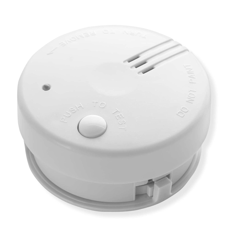 2X Detector de Humo Nemaxx Mini-FL2 Mini Detector de Fuego y Humo Detector con bater/ía de Litio de Acuerdo con la Norma DIN EN 14604 Nemaxx Pad de fijaci/ón Adhesiva Quickfix NX1