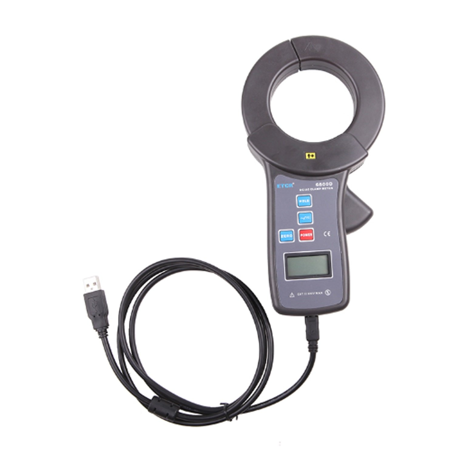 Lanlanmaoyimg Ammeter USB Interface Digital clamp Ammeter with ETCR6800D 0~2000A AC DC Leakage Current Clamp Meter ETCR6800D Precision Measurement