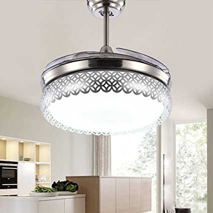 tiptonlight plata moderno Simple Invisible Ventilador luces ...