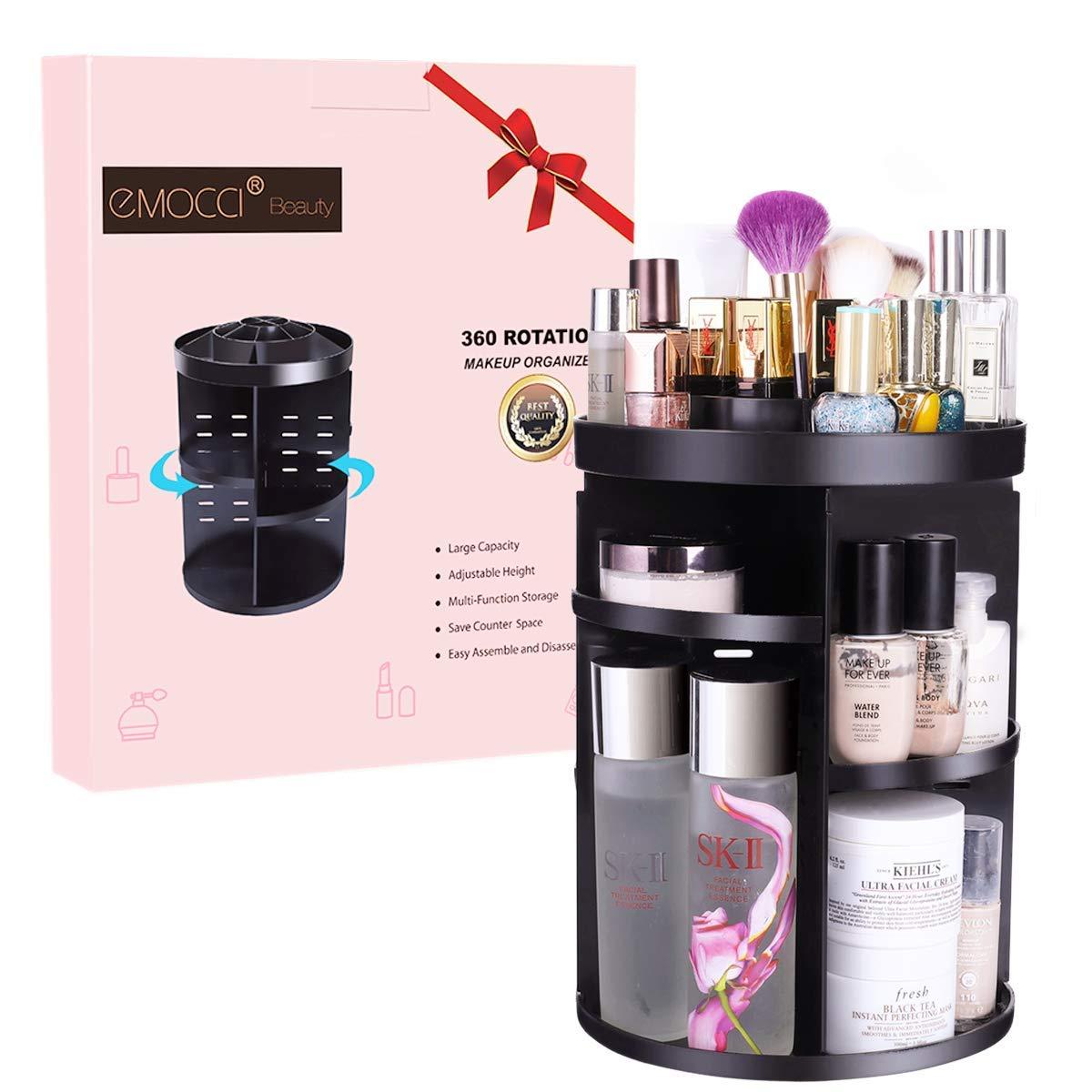Premium Clear Acrylic Makeup Brush Desktop Storage Organizer, 5 Compartments Acrylic Cosmetic Organizer,1pc Pack
