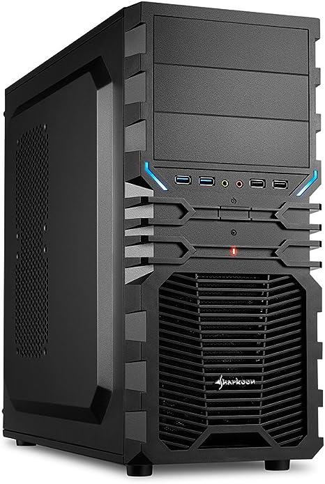 Sharkoon VG4-V - Caja de ordenador gaming (semitorre ATX, incluye ...