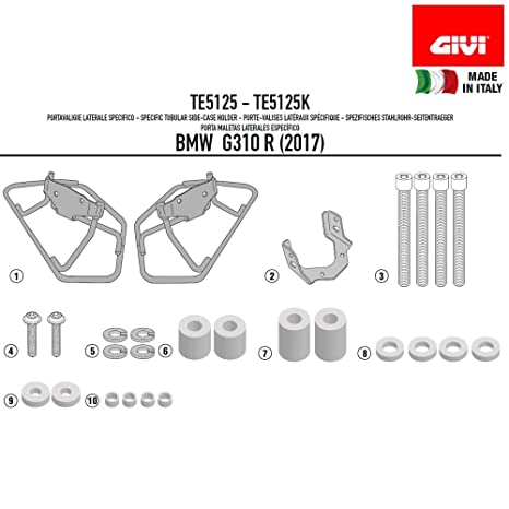 Amazon.com: Givi TE5125 Saddle Bag Spacers for 3D600 – Black, 40: Automotive