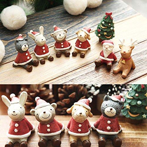 36' Santa (Lovely Christmas Wedding Santa Animals Decoration Cute Resin Gift Home Decor Furnishings(Random: Style))