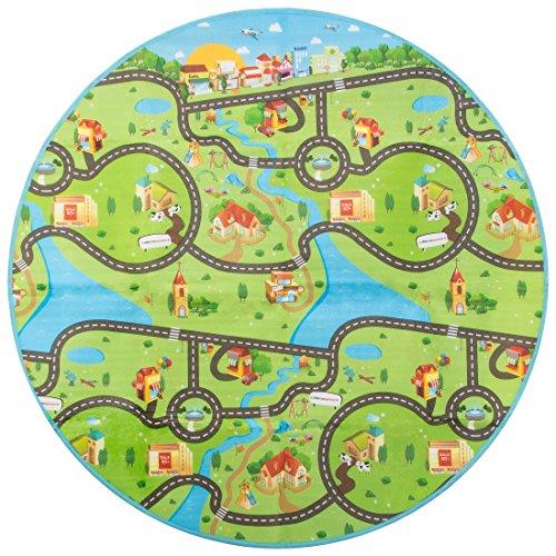 Ultrasport Trampolin-Spieldecke / Garten-Spieldecke 150 cm Ø mit zwei Motiv-Seiten