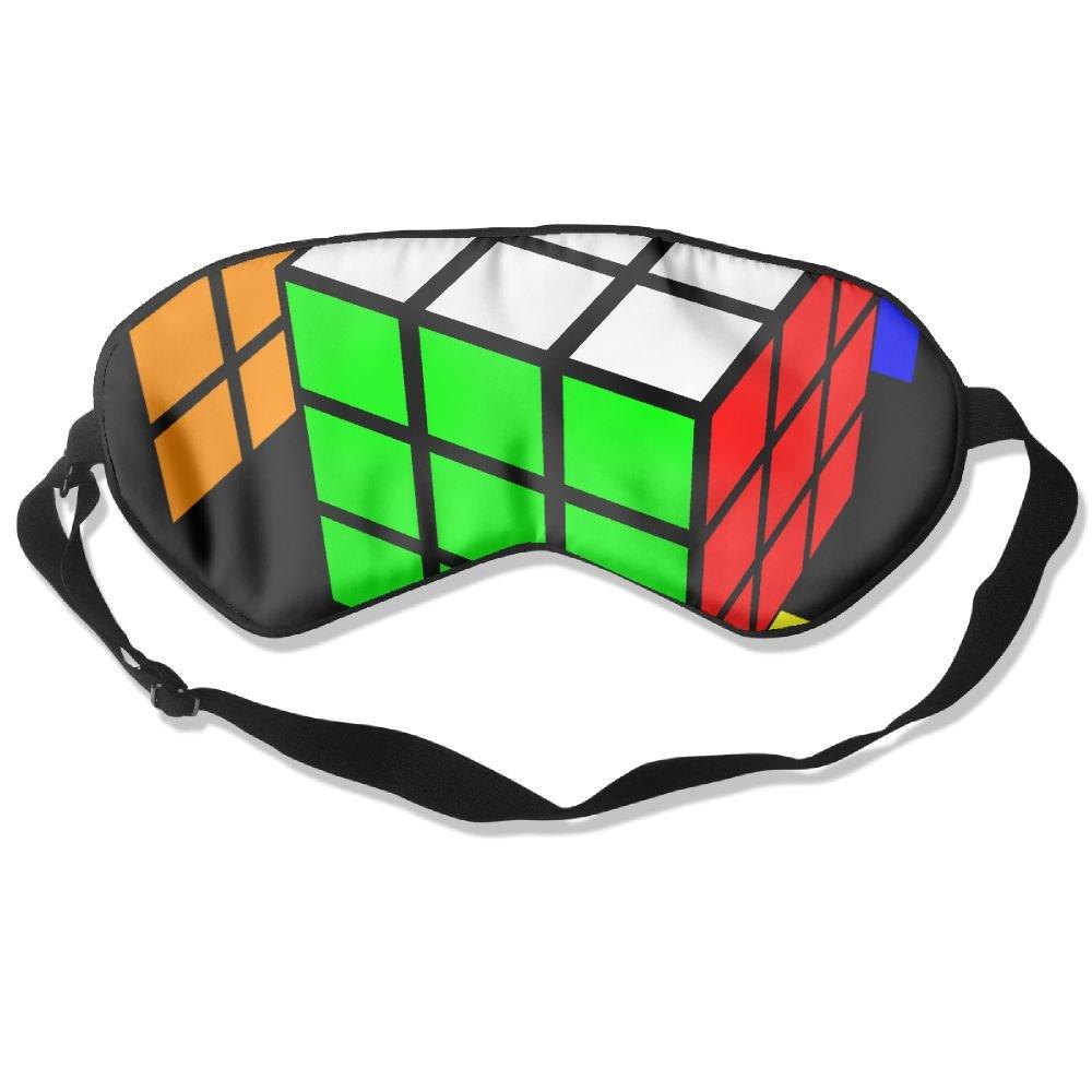 Sleep Mask Rubik's Cube World Eye Cover Blackout Eye Masks,Soothing Puffy Eyes,Dark Circles,Stress,Breathable Blindfold