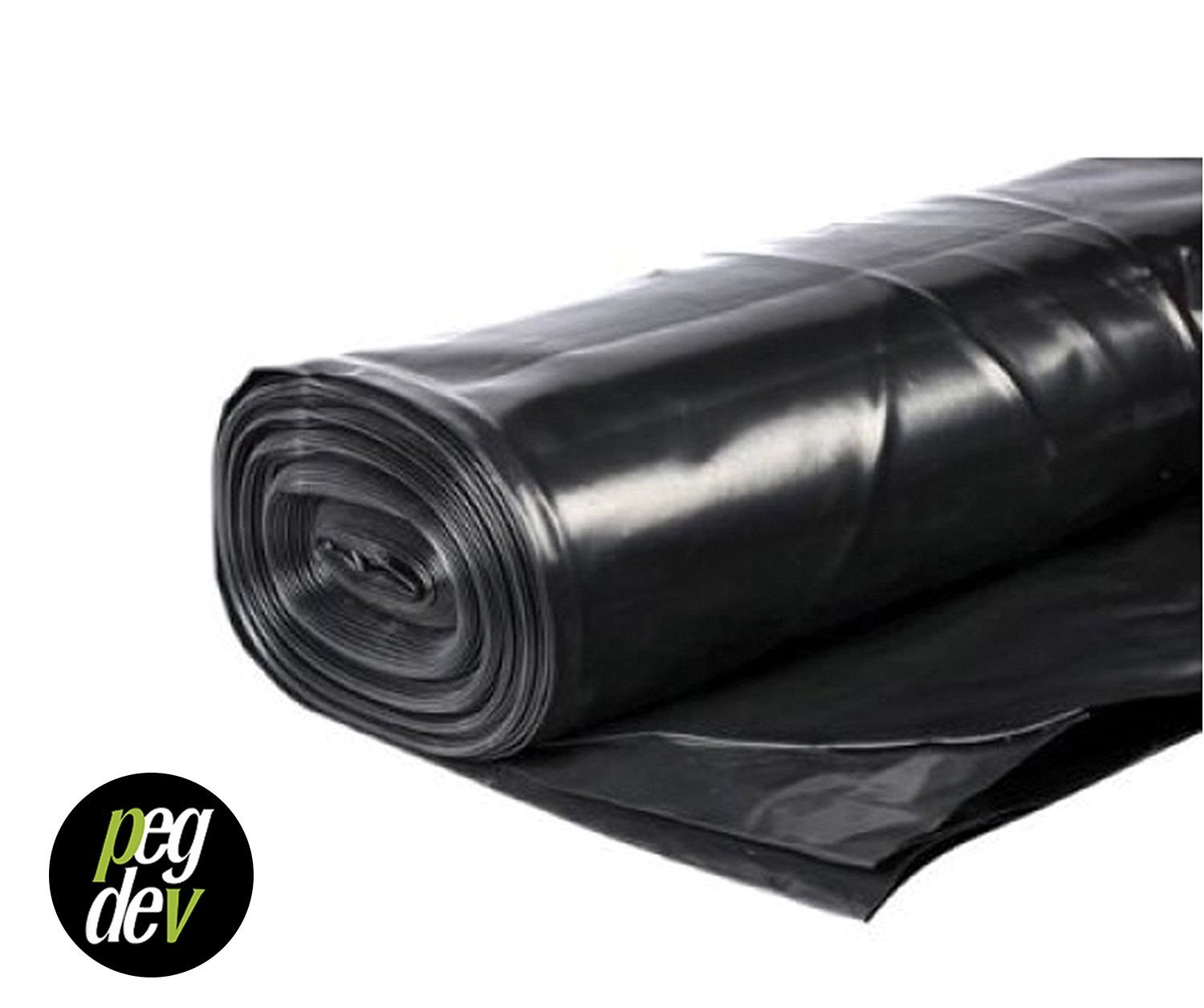 5m X 4m 250G BLACK POLYTHENE PLASTIC SHEETING GARDEN DIY PDL