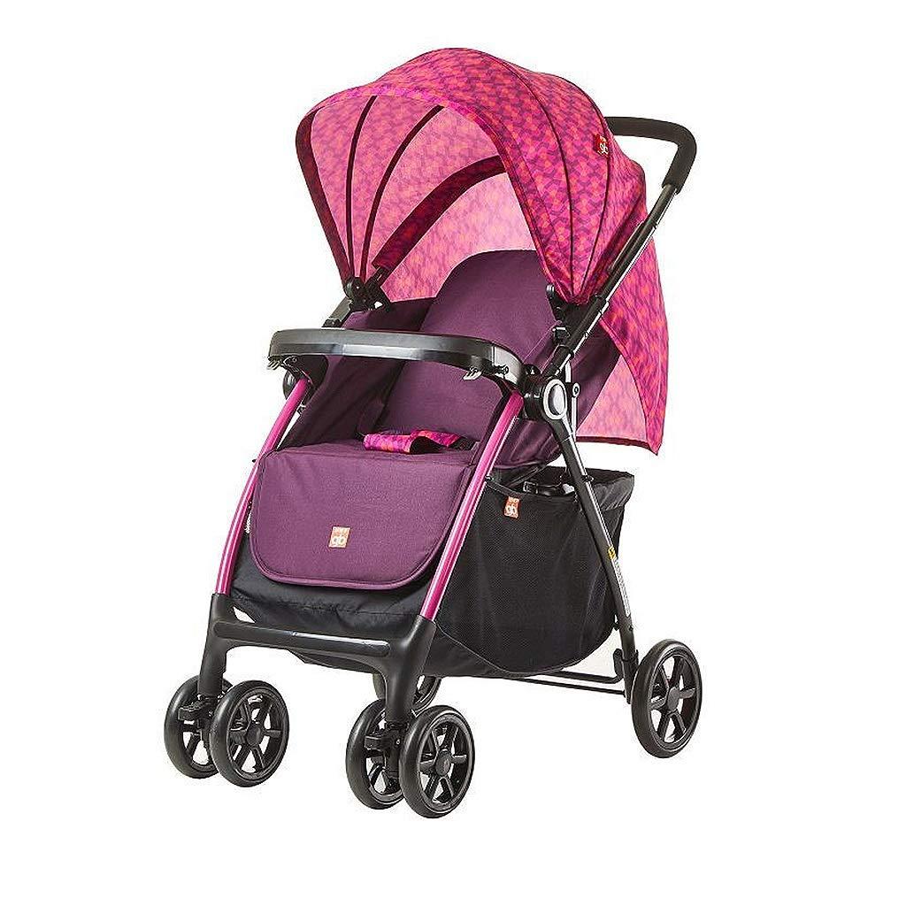 傘赤ちゃんのベビーカー折りたたみ式、軽量、2方向プッシュ式トラベルベビーカー、3ファイル調節可能なリクライニングシート Pink) (色 : Pink Pink) : Pink B07LBQDWNJ, Natural Cosmetics アンベリール:2b9e2f11 --- bennynews.com