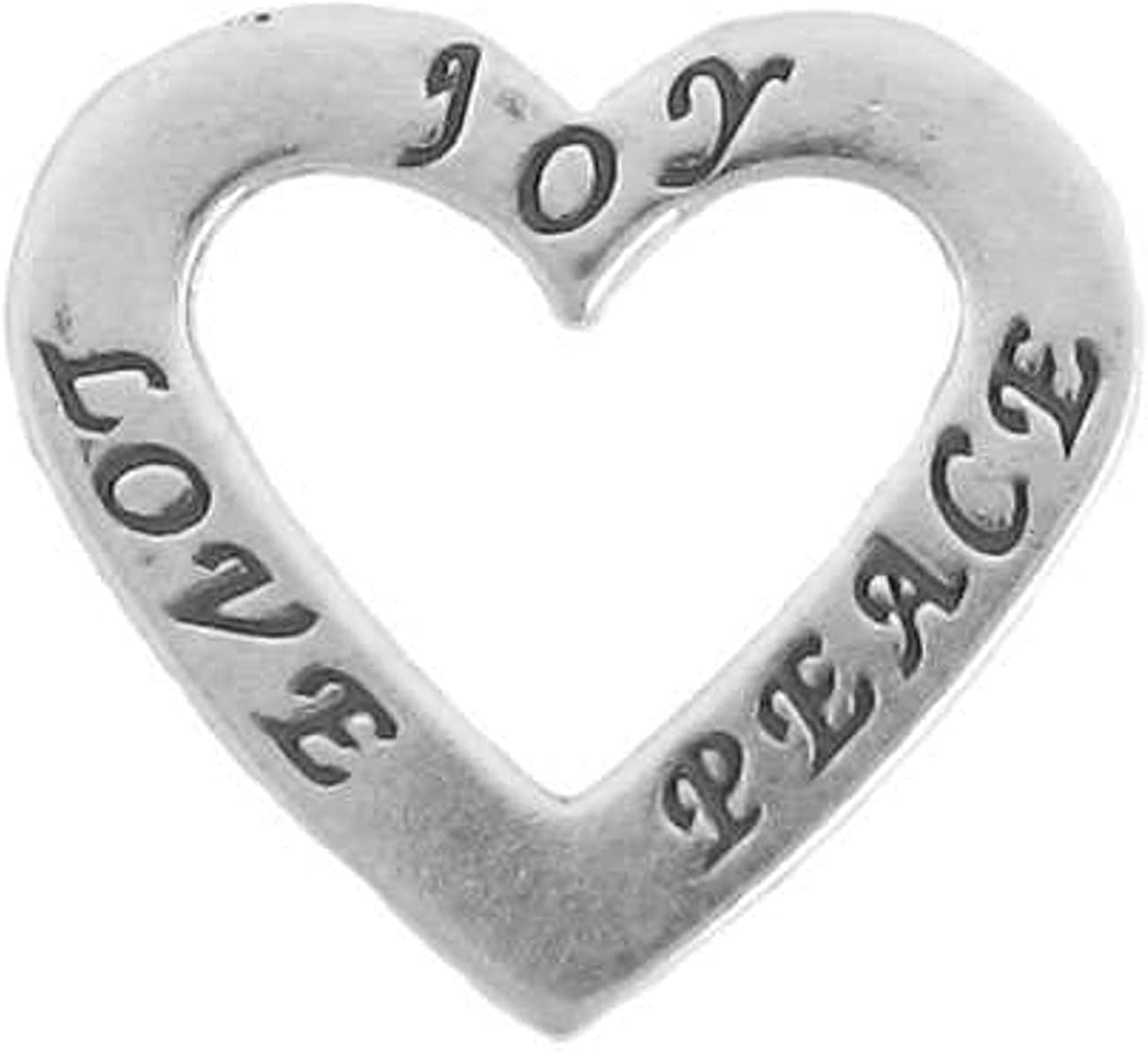 Sterling Silver Girls .8mm Box Chain 3D Heart Shaped Top Key Pendant Necklace